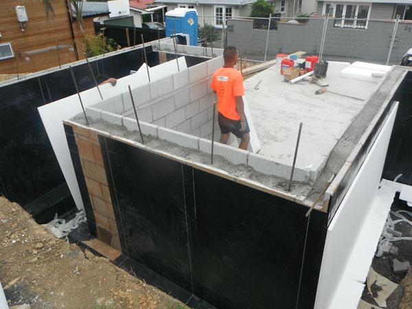 Basement Cellar Tanking Walls Using Waterproof Membrane