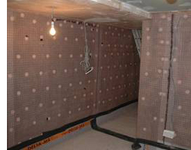 Basement cellar tanking walls using waterproof membrane solutions
